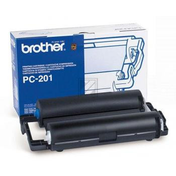 Brother Mehrfachkassette + 1 Thermo-Transfer-Rolle schwarz (PC-201RF)