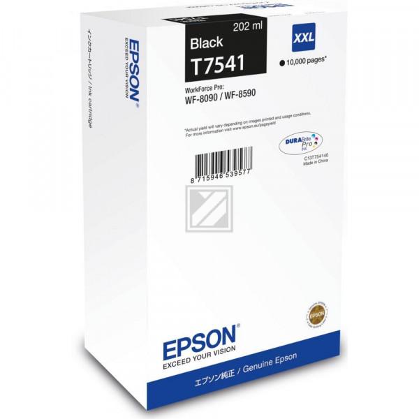 Epson Tintenpatrone schwarz HC plus (C13T754140, T7541)