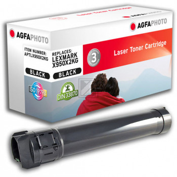 Agfaphoto Toner-Kit schwarz (APTLX950X2KG) ersetzt X950X2KG