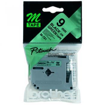 Brother Schriftbandkassette schwarz/grün metallic (M-721)