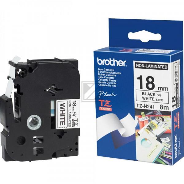 Brother Schriftbandkassette schwarz/weiß (TZE-N241)