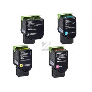 Lexmark Toner-Kartusche gelb, cyan, magenta, schwarz HC plus ersetzt C242XC0, C242XM0, C242XY0, C242XK0