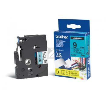 Brother Schriftbandkassette schwarz/blau (TZE-521)