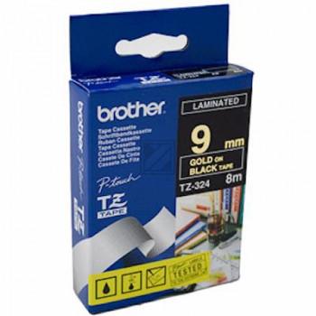 Brother Schriftbandkassette schwarz/gold (TZE-324)