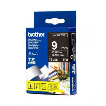 Brother Schriftbandkassette weiß/schwarz (TZE-325)