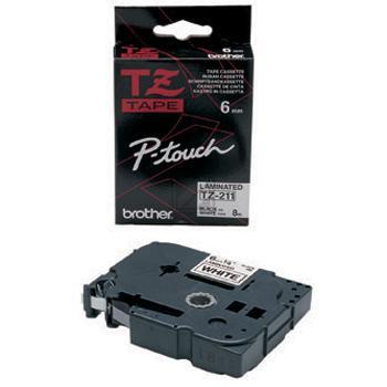 Brother Schriftbandkassette schwarz/weiß (TZE-211)