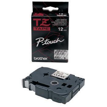 Brother Schriftbandkassette schwarz/transparent (TZE-131)