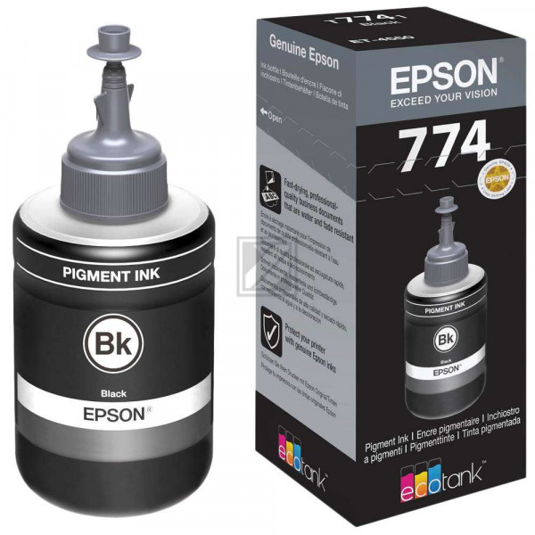 Epson Tintennachfülltank schwarz (C13T774140, T7741)