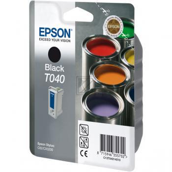 Epson Tintenpatrone schwarz (C13T04014020, T040)