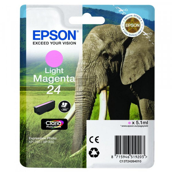 Epson Tintenpatrone magenta light (C13T24264020, T2426)