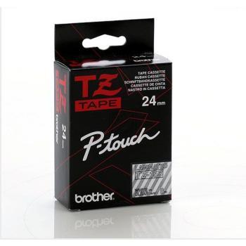 Brother Schriftbandkassette weiß/transparent (TZE-155)