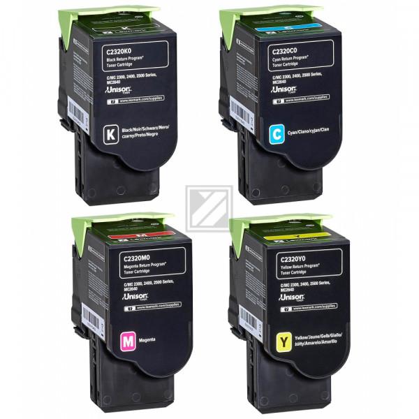 Lexmark Toner-Kartusche gelb, cyan, magenta, schwarz ersetzt C2320C0, C2320K0, C2320M0, C2320Y0