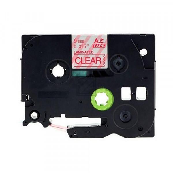 Brother Schriftbandkassette rot/transparent (TZE-122)