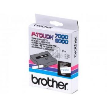 Brother Schriftbandkassette blau/weiß (TX-233)