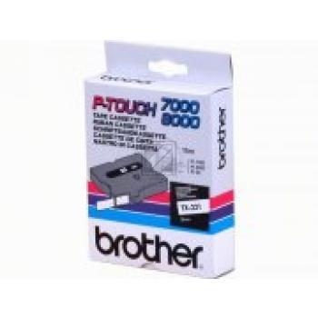 Brother Schriftbandkassette rot/weiß (TX-242)