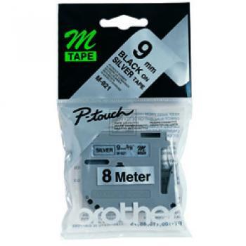 Brother Schriftbandkassette schwarz/silber (M-921)