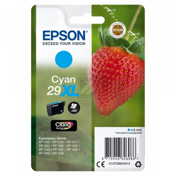 Epson Tintenpatrone cyan HC (C13T29924020, T2992)