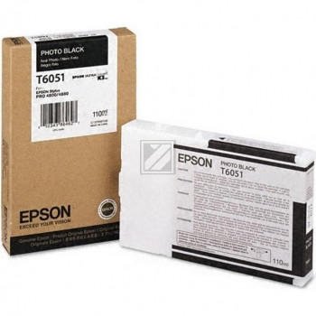 Epson Tintenpatrone Ultra Chrome K3 Photo-Tinte photo schwarz (C13T605100, T6051)