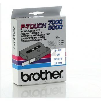 Brother Schriftbandkassette blau/weiß (TX-243)
