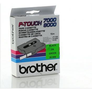 Brother Schriftbandkassette schwarz/grün (TX-741)