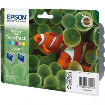Epson Tintenpatrone 2 x cyan/gelb/magenta/light cyan/light magenta 2-Pack (C13T02740320, T027)