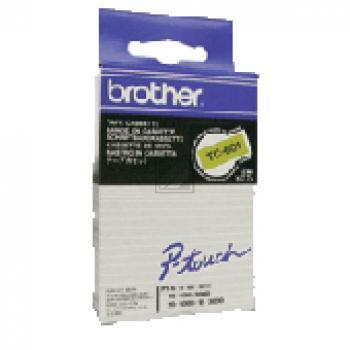 Brother Schriftbandkassette schwarz/gelb (TC-601)