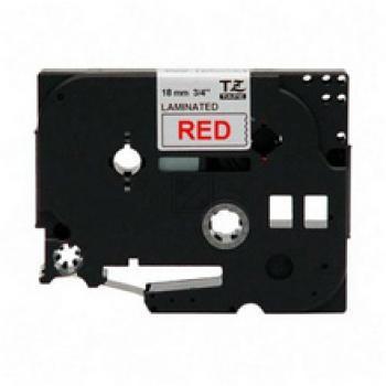 Brother Schriftbandkassette rot/weiß (TZE-242)