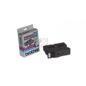 Brother Schriftbandkassette weiß/schwarz (TX-335)