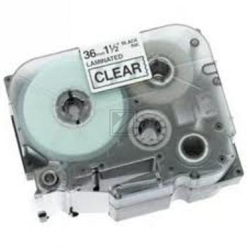 Brother Schriftbandkassette rot/transparent (TZE-132)