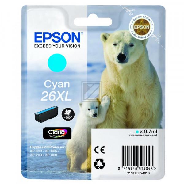 Epson Tintenpatrone cyan HC (C13T26324020, T2632)