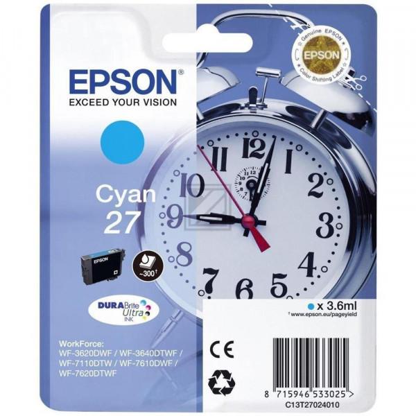 Epson Tintenpatrone cyan (C13T27024020, T2702)