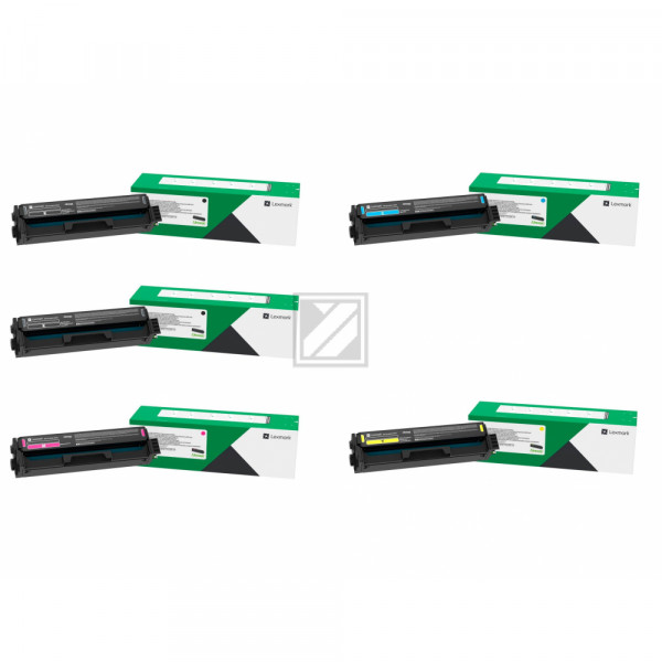 Lexmark Toner-Kartusche gelb, cyan, magenta, 2 x schwarz HC ersetzt 20N2HK0, 20N2HC0, 20N2HM0, 20N2HY0