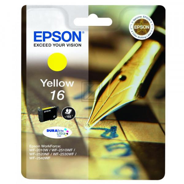 Epson Tintenpatrone gelb (C13T16244020, T1624)