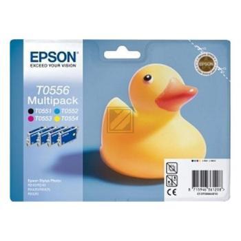 Epson Tintenpatrone gelb cyan magenta schwarz (C13T05564020, T0556)