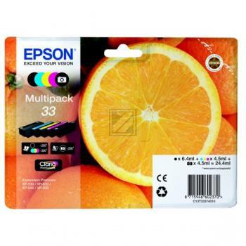 Epson Tintenpatrone with secure gelb cyan magenta schwarz photo schwarz (C13T33374020, T3337)