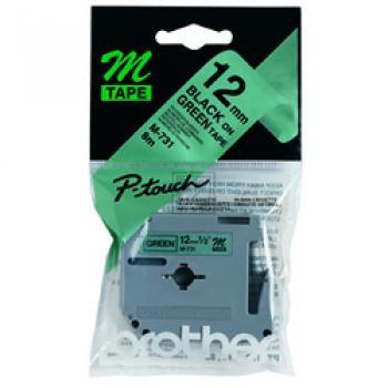 Brother Schriftbandkassette schwarz/grün (M-731)