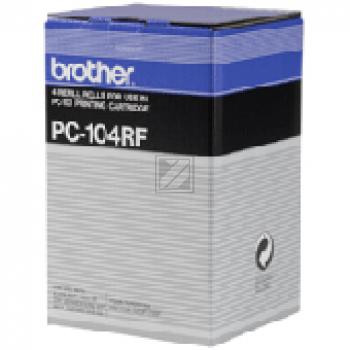 Brother Thermo-Transfer-Rolle schwarz 4-er Pack (PC-104RF)