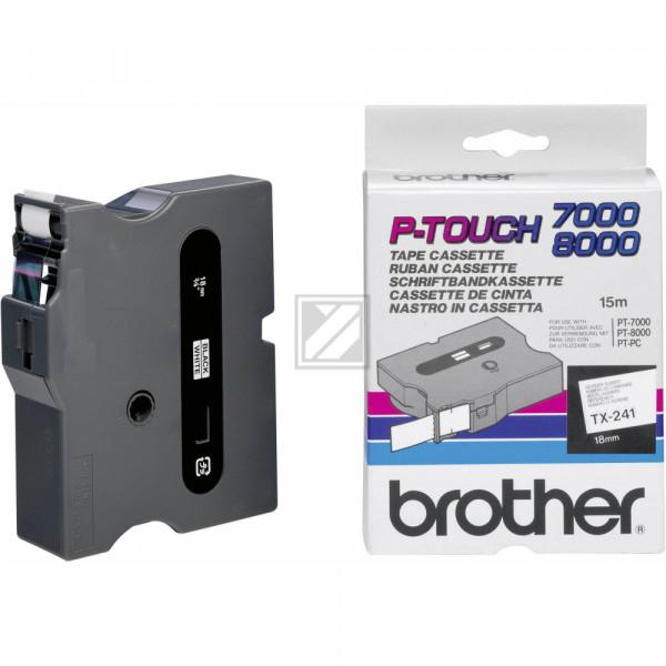 Brother Schriftbandkassette schwarz/weiß (TX-241)