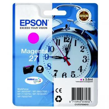 Epson Tintenpatrone magenta (C13T27034012, T2703)