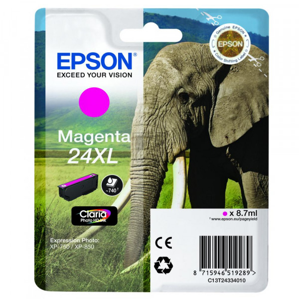 Epson Tintenpatrone magenta HC (C13T24334012, T2433)