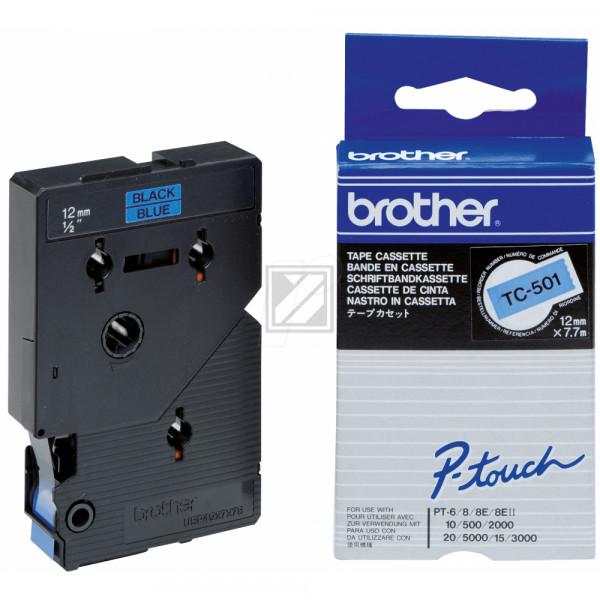 Brother Schriftbandkassette schwarz/blau (TC-501)