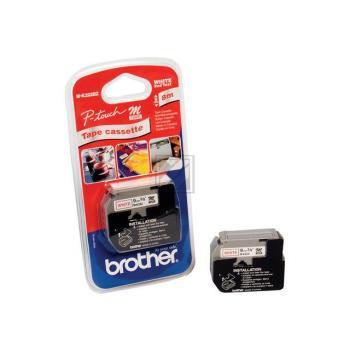 Brother Schriftbandkassette rot/weiß (M-K222)