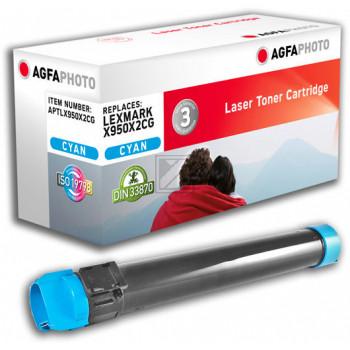 Agfaphoto Toner-Kit cyan (APTLX950X2CG) ersetzt X950X2CG
