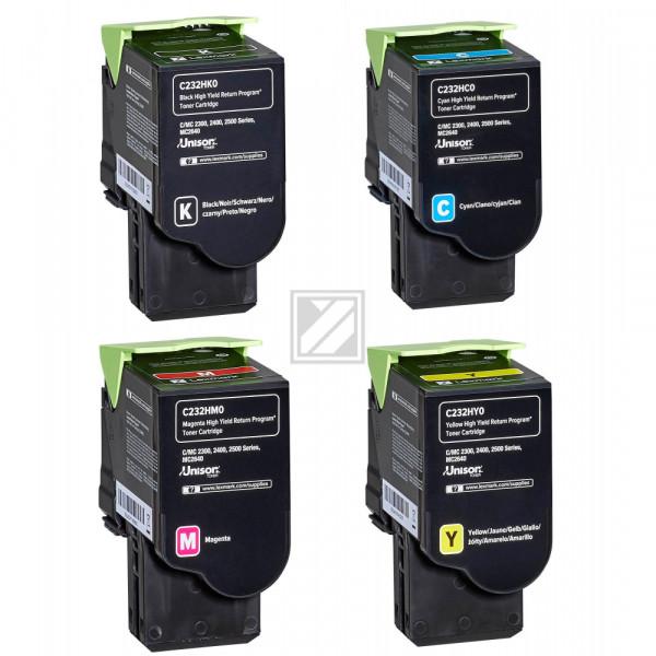 Lexmark Toner-Kartusche gelb, cyan, magenta, schwarz HC ersetzt C232HK0, C232HC0, C232HM0, C232HY0