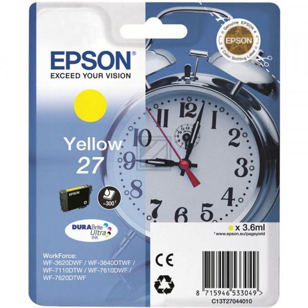 Epson Tintenpatrone gelb (C13T27044020, T2704)