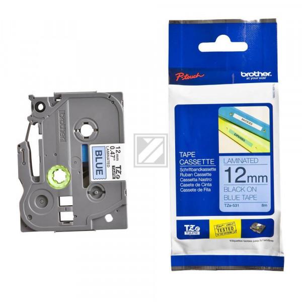 Brother Schriftbandkassette schwarz/blau (TZE-N531)