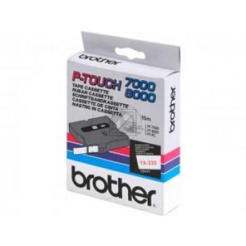 Brother Schriftbandkassette rot/weiß (TX-232)