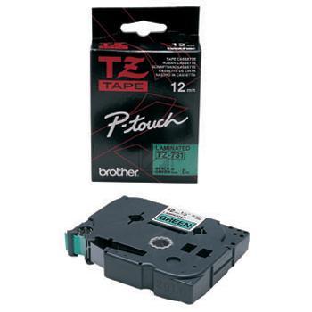 Brother Schriftbandkassette schwarz/grün (TZE-731)