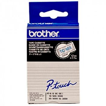 Brother Schriftbandkassette blau/transparent (TC-103)