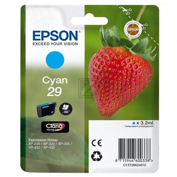 Epson Tintenpatrone cyan (C13T29824020, T2982)